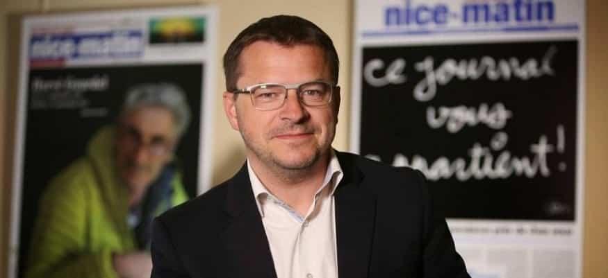 Denis Carreaux, directeur des rédactions depuis 2014. Photo : Nice-Matin, © tous droits réservés