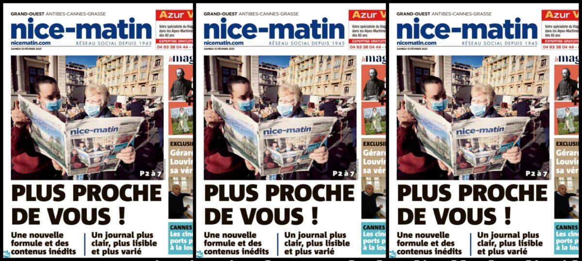 Nouvelle formule de février 2021 de Nice-Matin, le changement c'est pas maintenent
