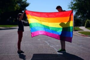 Mois des fiertés drapeau LGBT