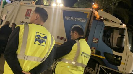 métropole benne ordure électrique